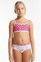 Dievčenský komplet nohavičiek a topu Flower Pink