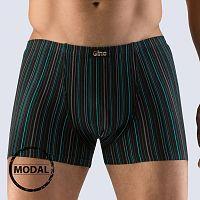 Pánske boxerky GINO Modal Stripes čierne