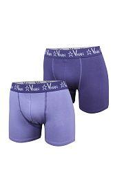 2 pack pánskych boxeriek VIANIA Vman Blue Violet