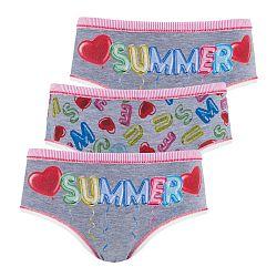 3 pack dievčenských nohavičiek Summer