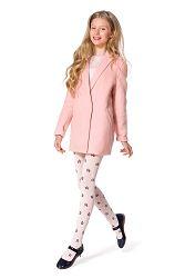 Dievčenské bavlnené pančuchy Solana ružové