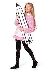 Dievčenské bavlnené pančuchy Solane čierne