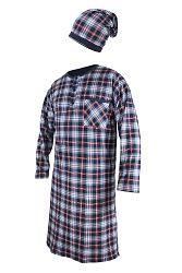 Pánska nočná košeľa s čiapočkou CORNETTE Red