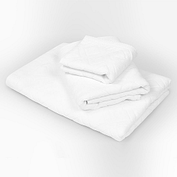 Veľký uterák Charles biely