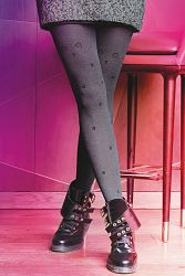 Vzorované pančuchové nohavice Colette Cat