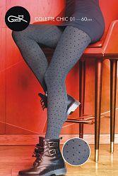 Vzorované pančuchové nohavice Collete Chic 01